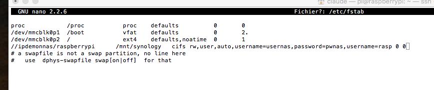 Montage disque réseau automatique impossible - Aide - Le Forum